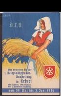 (art 2178) Propaganda Karte Ausstellung Erfurt - Allemagne