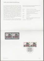 """Bund: Minister Card - Ministerkarte Typ IV, Mi-Nr. 1765 ESST, """" 1000 Jahre Stadt Quedlinburg """"    X - [7] República Federal"""