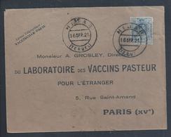 Letter From Nijar, Spain To Pasteur De Paris Vaccine Laboratory, 1921. Pariser Pasteur-Impfstofflabor. Vaccini Pasteur. - Medicine