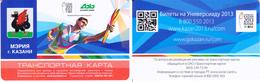 Transport  Card  Russia. Kazan  Metro/train/trolleybus/bus Universiada Kazan 2013 - Russia