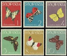 Albanien 1963 - Mi-Nr. 773-778 ** - MNH - Schmetterlinge / Butterflies - Albanien