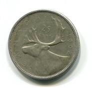 1962 Canada Silver 25 Cent Coin - Canada