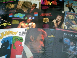 JOHNNY HALLYDAY   °° COLLECTION DE 26  /  33   TOURS  DIFFERENTS - Collections Complètes