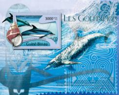 Guinea Bissau 2012  Dolphins Fauna Shells - Guinea-Bissau