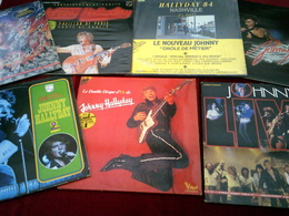 JOHNNY HALLYDAY   °° COLLECTION DE 14  /  DOUBLE  33   TOURS  DIFFERENTS - Collections Complètes