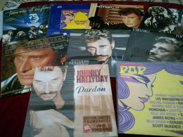 JOHNNY HALLYDAY   °° COLLECTION DE 9   /  MAXIS 45 TOURS  DIFFERENTS - Complete Collections