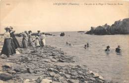 FINISTERE  29  LOCQUIREC - UN COIN DE LA PLAGE A L'HEURE DES BAINS - Locquirec