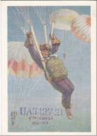 QSL Card Amateur Radio CB 28 January 1968 Moscow USSR RUSSIAN PROPAGANDA RUSSIA Parachutism Parachuting - Radio Amateur