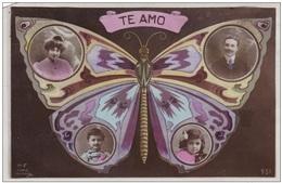 Butterfly Vlinder Schmetterling Papillon Mariposa Child Kind Enfant Childeren Jugendstil Art Nouveau Enfants Romance - Insetti