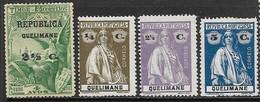 Quelimane  1913-4  4 Diff MH  2016 Scott Value $7.25 - Quelimane