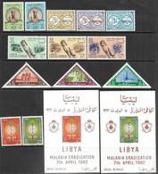 Libya   1961-2   Sc#207-219a   5 Diff Sets Plus Malaria Eradication Souv Sheets Set  MNH  2016 Scott Value $51.95 - Libya