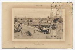 (RECTO / VERSO) ORLEANS EN 1913 - VUE GENERALE - TRAMWAY AVEC WAGON DECOUVERT - PLI ANGLE HAUT A DROITE - CPA VOYAGEE - Orleans