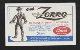 BUVARD - ANCEL . DESSERTS - Signé ZORRO -  Année 1959.  Walt Disney Productions - 2 Scannes. - Sucreries & Gâteaux
