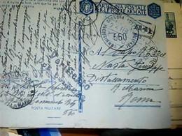 FRANCHIGIA MILITARE FORZE ARMATE QUANDO IL NEMICO  FRASE MUSSOLINI 1943 POSTA MILITARE 550 CENSURA  HK4997 - Weltkrieg 1939-45