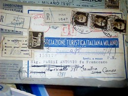DOPPIA RACCOMANDATA EMA DA ROMA FRANCOBOLLI DA NOLA PIEGO CAMPIONI DOPPIO PORTO  Tariffa 0,95 Ass TURISTICA 1942 HK4999 - 1900-44 Vittorio Emanuele III