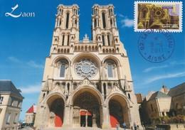Carte  Maximum   FRANCE   Cathédrale  NOTRE DAME     LAON   2011 - 2010-...