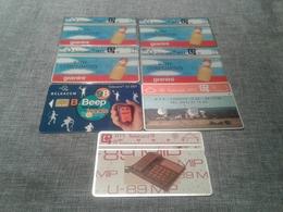 Belgium - 7 Interesting Phonecards - Belgio