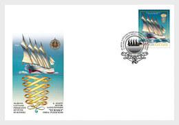 Latvia Lettonie 2020 - XIX Century Historical Ships - Eurasia FDC - Letland