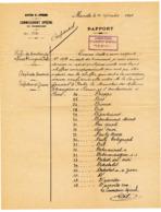 1896 // MARSEILLE // COMMISSARIAT SPECIAL // RAPPORT De LA DIRECTION De La SURETE GENERALE - Documents Historiques