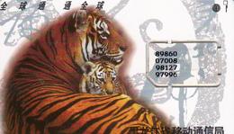 CHINA - Tigers, GSM Card, Used - China