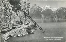 Axenstrasse - Ausflugbus - Postauto - Foto-AK - Verlag Photoglob-Wehrli AG Zürich Gel. 1962 - UR Uri