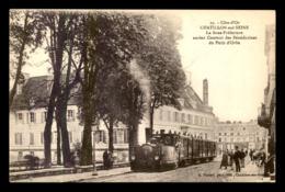 21 - CHATILLON-SUR-SEINE - LA SOUS-PREFECTURE - TRAMWAY A VAPEUR - Chatillon Sur Seine