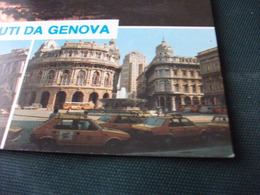 AUTO CAR VOITURES COCHE TAXI GIALLI PIAZZA DE FERRARI CORVETTO PORTO TRAMONTO  SALUTI - Taxi & Carrozzelle