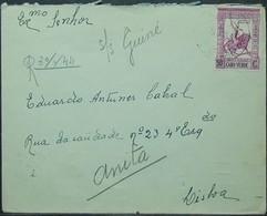 Cabo Verde - Registered Cover To Portugal 1944 - Isola Di Capo Verde