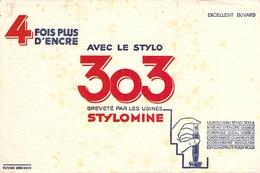 Ancien Buvard Collection ECRITURE STYLOMINE 303 NIVEAU D ENCRE VISIBLE - Buvards, Protège-cahiers Illustrés