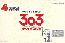 Ancien Buvard Collection ECRITURE STYLOMINE 303 NIVEAU D ENCRE VISIBLE - Carte Assorbenti