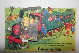 34 : Carte Système  Complète - Palavas  Les Flots  - La Vitesse Et Sans Secousse  ( Train ) - Palavas Les Flots