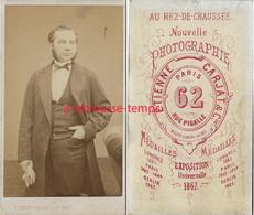 Vers 1867-CDV Notable Par Nouvelle Photographie Etienne CARJAT Rue Pigalle à Paris - Old (before 1900)