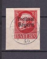 Bayern - 1920 - Michel Nr. 167 B - Eckrand - Gest. - 70 Euro - Bavaria