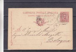 Italie - Carte Postale De 1895 - Entier Postal - Oblit Pesaro - Exp Vers Bologna - - 1878-00 Humbert I.