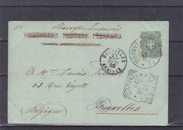 Italie - Carte Postale De 1900 - Imprimé - Oblit Firenze - Exp Vers Bruxelles - Vue De Firenze - - Poststempel