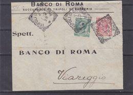 Italie - Devant De Lettre De 1912 - Oblit Tripoli Di Barberia - Exp Vers Viareggio - 1900-44 Vittorio Emanuele III