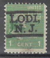 USA Precancel Vorausentwertung Preo, Locals New Jersey, Lodi L-1 HS - Vereinigte Staaten
