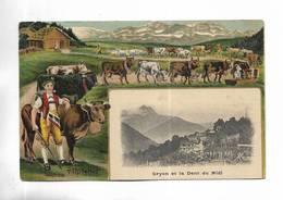 SUISSE - Gryon Et La Dent Du Midi. Belle Illustration - VD Vaud