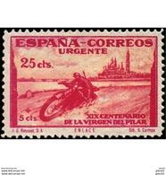 ES903CF-LTV***903STSC.Spain.Esgane .RELIGION.VENIDA DE LA VIRGEN DE EL PILAR De ZARAGOZA.URGENTE.moto.1940.(Ed 903*) - Sin Clasificación