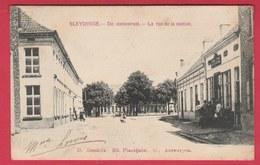 Sleidinge - De Statiestraat - 1908 (  Verso Zien ) - Evergem