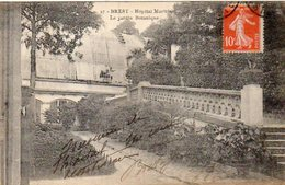 Dept 29,Finistère,Cpa Brest,Hôpital Maritime,Le Jardin Botanique - Brest