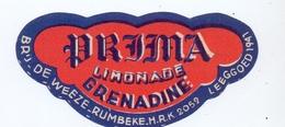 Etiket Etiquette - Limonade - Prima - Brouwerij Brasserie De Weeze - Rumbeke - Etiquettes