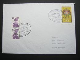 1978   ,Bahnpost:  HANNOVER -HAMBURG  , Klarer   Stempel Auf Brief - BRD