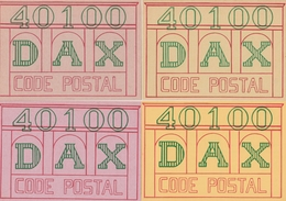 DAX 1982 - Lot De 5 Cartes Postales + Vignettes CODE POSTAL - Curiosa: 1980-89 Brieven & Documenten