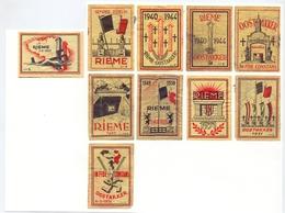 Etiket Etiquette - Luciferdoosje - Executieoord Rieme - Oostakker - 10 Stuks - Oorlog 1940 - 1944 - Boites D'allumettes - Etiquettes
