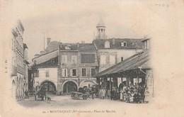 Rare Cpa Montréjeau Place Du Marché - Montréjeau