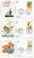 France FDC 2000 2006 - Fête Du Timbre Tintin Lagaffe Boule & Bill Lucky Luke Titeuf Spirou - FDC