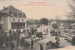 Rare Cpa Montréjeau Gourdan-polignan La Place Très Animée Foire Aux Cochons - Montréjeau