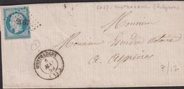 LETTRE DE L 'AVEYRON AVEC PC DE MONTBAZENS LAC 1859 SUP - Storia Postale