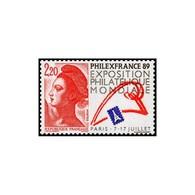 Timbre N° 2524 Neuf ** - Philexfrance 89. Type Liberté De Gandon Et Logotype De L'exposition20275130. - France